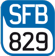 Logo of the SFB829